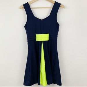 Nike Dresses - Nike Tennis Dress Dri-Fit Sz Small Shelf Bra Navy